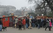 Christmas Market At Moravian Square In Brno