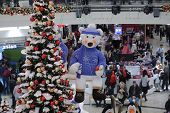Brno,czech Republic-december 14,2014:christmas Decorations At  Shopping Centre Gallery Vankovka