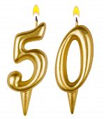 Birthday Candles Number Fifty