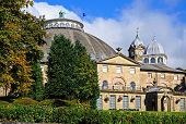 stock photo of devonshire  - The Devonshire Royal Hospital also known as the Devonshire Dome Buxton Derbyshire England UK Western Europe - JPG