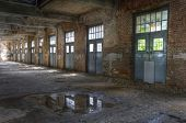 pic of old post office  - Big old hall in an abandoned post office
