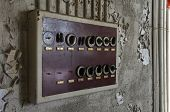 Old Fuse Box In An Abandoned Hall