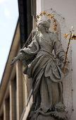 WURZBURG, GERMANY - JULY 18: Statue of Virgin Mary in Wurzburg, Bavaria, Germany on July 18, 2013.