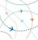 Colorful Airline Airplanes Travel Flights Air Traffic