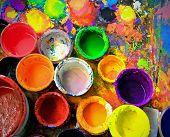 old paint pots