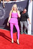 LOS ANGELES - AUG 24:  Gwen Stefani arrives to the 2014 Mtv Vidoe Music Awards on August 24, 2014 in Los Angeles, CA