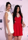 LOS ANGELES - FEB 06:  KENDALL & KYLIE JENNER arrives to the 'The Vow' World Premiere  on February 06, 2012 in Hollywood, CA