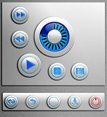 Set Of The Elements For Media Player