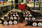 foto of diodes  - assembly of LED lights shallow depth of field for a blurred effect - JPG