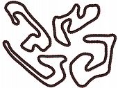 stock photo of four-wheel drive  - An illustration set of different race tracks 4 - JPG