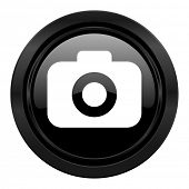photo camera black icon photography sign