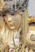 Golden Mask At The Carnival Of Venice