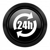 24h black icon