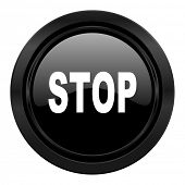 stop black icon
