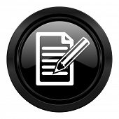 subscribe black icon write sign