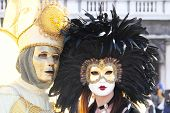 Couple Of Masks At The Carnival Of Venice
