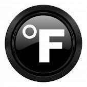 fahrenheit black icon temperature unit sign