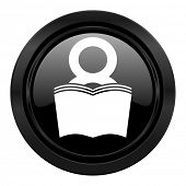 book black icon reading room sign bookshop symbol