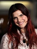 LOS ANGELES - FEB 16:  LAKE BELL arrives to the