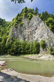 foto of pieniny  - Dunajec River in Pieniny Mountains at the Polish - JPG