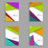 stock photo of booklet design  - Magazine Cover with colorful - JPG