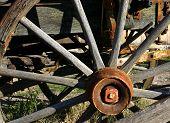 Weathered Wagon Wheel poster