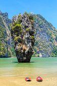 image of james bond island  - Ko Khao Phing Kan and Ko Tapu islands known as James Bond Island - JPG