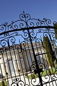 image of wrought iron  - Wrought iron gate of a stylish monument in Saint - JPG
