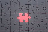 picture of jigsaw  - The missing part of the jigsaw Jigsaw and puzzles concepts - JPG