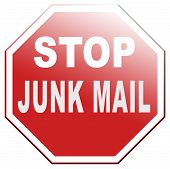 stock photo of spam  - stop junk mail and spam before it - JPG