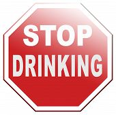 stock photo of alcoholic drinks  - stop drinking alcohol go to rehab for alcoholism and drunk driving - JPG