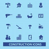 stock photo of skid-steer  - construction icons - JPG