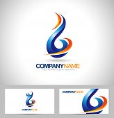 stock photo of flames  - Blue Flame Logo Concept Design - JPG