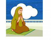 picture of namaz  - Islamic month of prayer - JPG