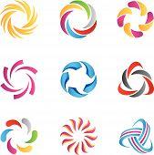 pic of big-bang  - abstract loop logos and icons template - JPG