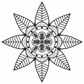 foto of henna tattoo  - Flower shape with 8 leaves inspired by Indian culture and henna tattoo - JPG