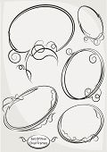 picture of oval  - Five stylish decorative oval frames - JPG
