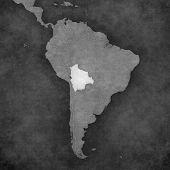Постер, плакат: Map Of South America Bolivia