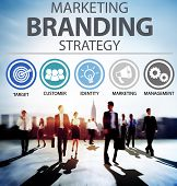 stock photo of commercial building  - Brand Branding Marketing Commercial Name Concept - JPG