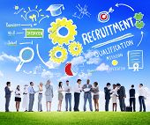 stock photo of recruiting  - Ethnicity People Recruitment Digital Devices Searching Concept - JPG