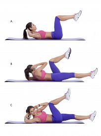 stock photo of shoulder-blade  - Step by step instructions for abs - JPG