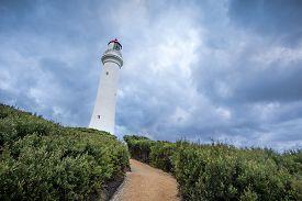 foto of inlet  - Split Point Lighthouse - JPG