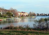 Lake Front Häuser.