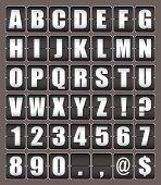 Alphabet Ticker Board