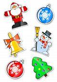 set sticker for christmas