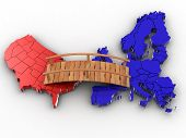 Bridge Between Europe And Usa poster