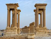 picture of zenobia  - The four gated tetrapylon  - JPG