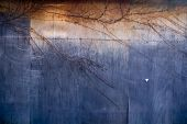 Grungy Blue And Orange Plywood Background
