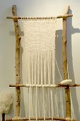 image of handloom  - an archaic loom at thassos museum greece - JPG