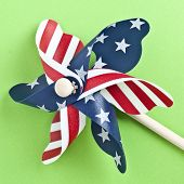 American Flag Patriotic Pinwheel